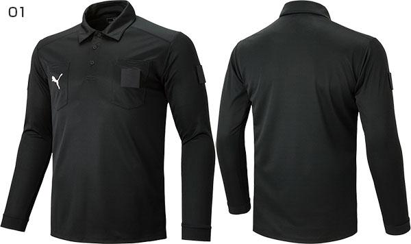 e3d8db84e Puma PUMA men LS referee shirt soccer wear futsal wear tops polo shirt long  sleeves Longus Reeve shirt umpire 656329
