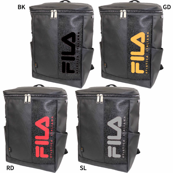 1e1421f1b47 It is popular FILA square rucksack. A front big logo points it. The type  that put different fabrics of the reshuffling together to the body cloth  which I ...
