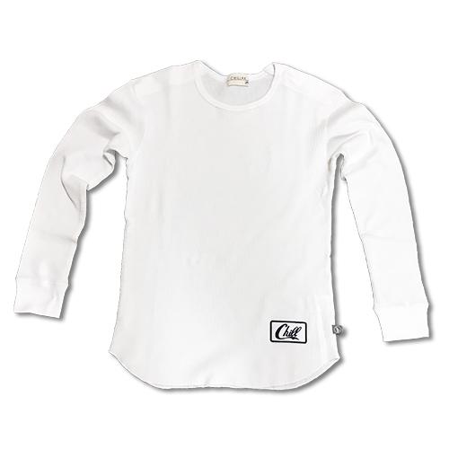 RHC Ron Herman (ロンハーマン):Chillax ワッフルロング Tシャツ (White)