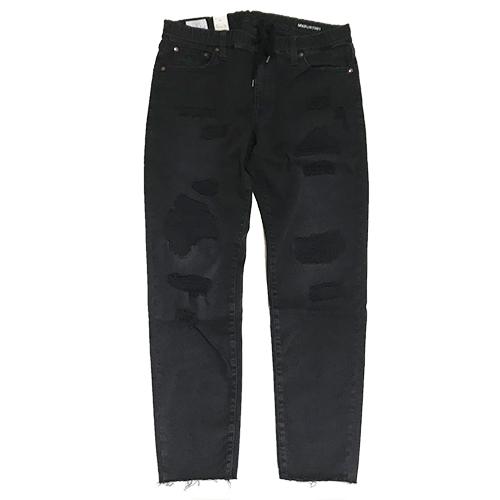 RHC Ron Herman (ロンハーマン)限定販売: SURT x BIG JOHN x RHC Damaged Denim Jeans Black (紐付き)