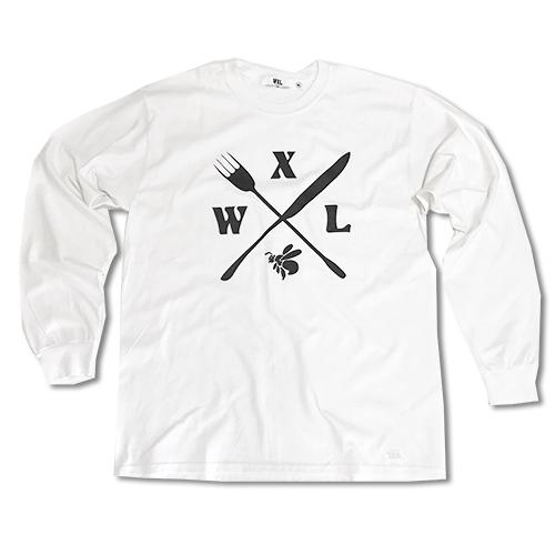 RHC Ron Herman (ロンハーマン): WXL (ダブルXL) Cross bee logo ロングTシャツ White