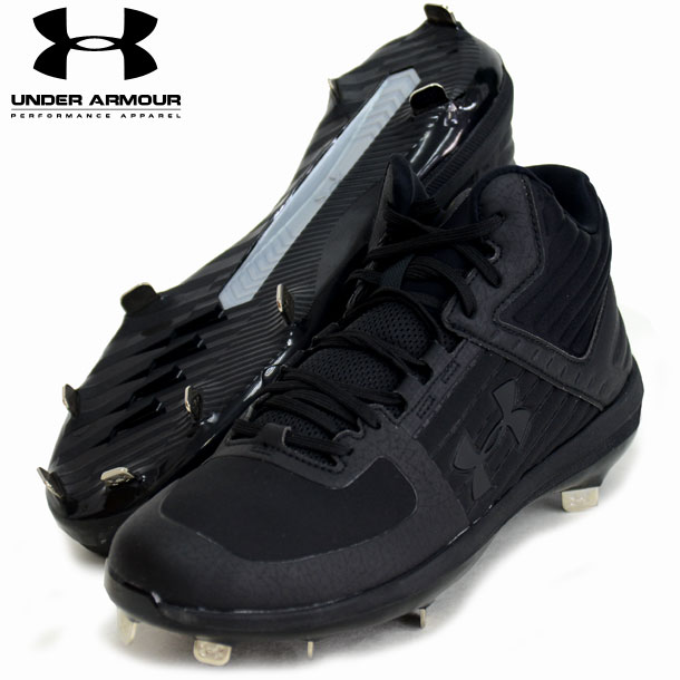UA Yard Mid ST JP 【UNDER ARMOUR】アンダーアーマー 野球スパイク19SS(3022130-BLK/BLK)*00