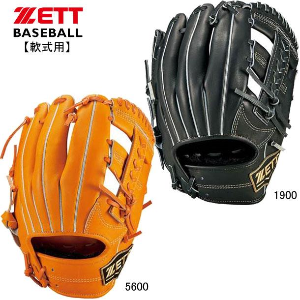 軟式用ネオステイタス 内野手用【ZETT】ゼット野球 軟式グラブ 19FW(BRGB31020)*20