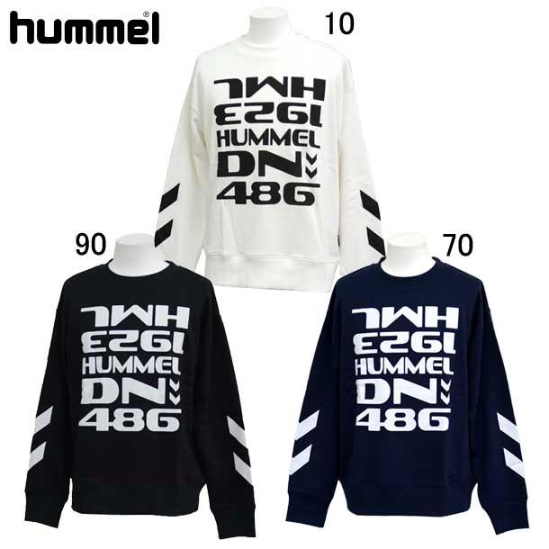 値下げ ヒュンメル スウェット スウェットクルーネック hummel 祝日 HAP8002CA スウェットシャツ 73