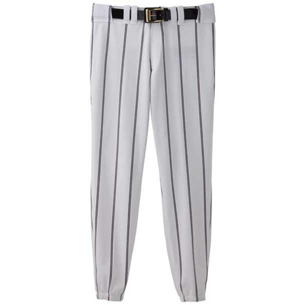 『ミズノプロ』ナショナルチームモデルパンツ(2008年日本代表モデルレプリカ ロングタイプ)(野球) (01ホワイト×ネイビーツインピンストライプ) 【MI*22