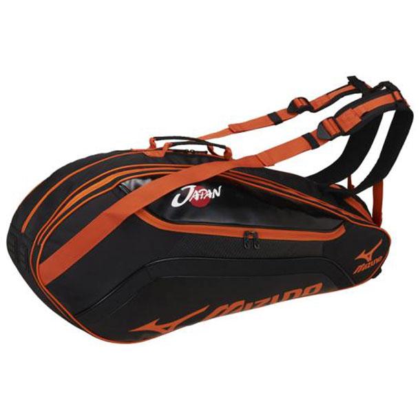 ラケットバッグ(6本入れ)【MIZUNO】ミズノテニス バッグ ラケットバッグ(63JD7002)*25