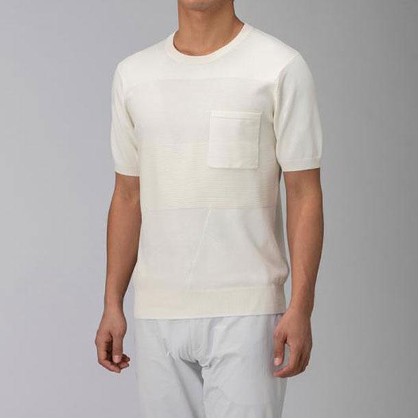 ハイゲージニットTシャツ(メンズ)【MIZUNO】ミズノアウトドア トラベル トラベルウエア(B2JA9113)*41:ビバスポーツ
