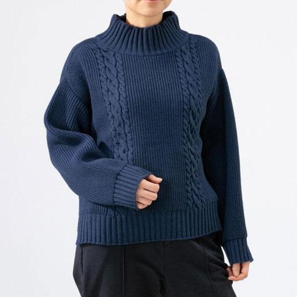 ブレスサーモセーター【MIZUNO】ミズノアウトドア トラベル トラベルウエア セーター(B2JC9861)25*50