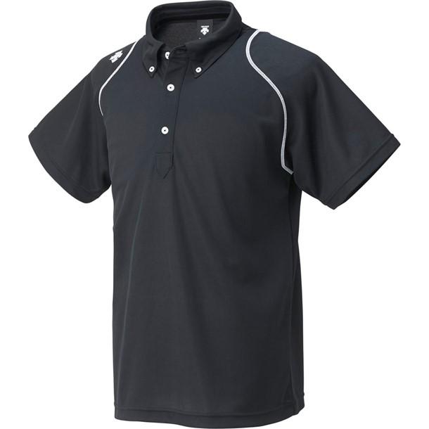ボタンダウンポロシャツ【descente】デサントマルチSPポロシャツ M(dtm4600b-blk)*20:ビバスポーツ