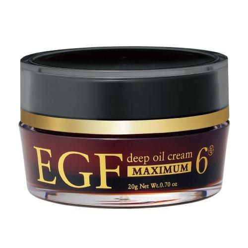 EGFクリーム ディープオイルクリーム マキシマム 20g 高濃度 スーパークリアオリーブオイル ホホバオイル シアバター 美容クリーム 保湿 小じわケア EGF成長因子 クルード化粧品