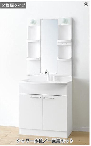 洗面台 収納 洗面化粧台 人気 アルバ ALBA 間口750mm 扉タイプ シャワー水栓 一面鏡 白熱球 曇り止めヒーター付き LKAL750TUJ M755SBH