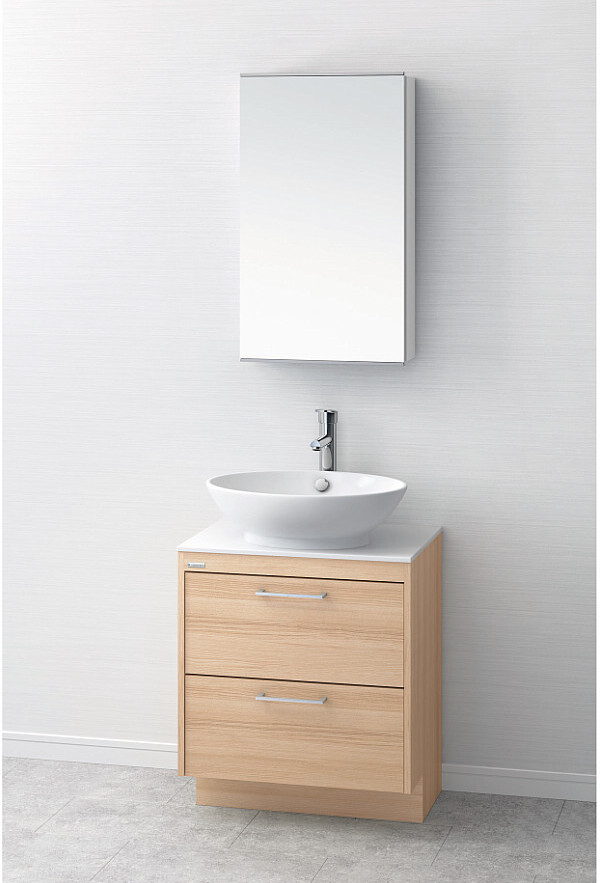 インテリア性の高い家具感覚のデザイン洗面台 洗面台 おしゃれ 洗面化粧台 間口600mm LKAU600AFJMM45 アサヒ衛陶 送料無料 オーラ 卸売り 与え