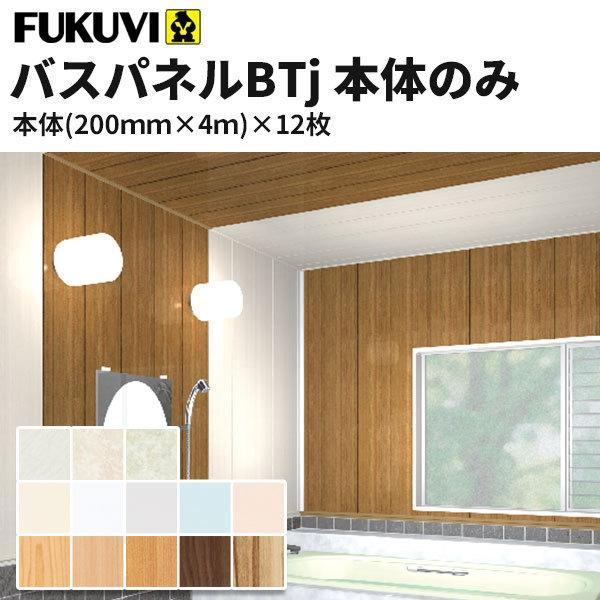 フクビ 浴室天井・壁装材 バスパネルBT・J 抗菌・UV塗装 本体のみ(200×4000mm)12枚入り カラー12色 カラー12色 カラー12色 BT4 c61