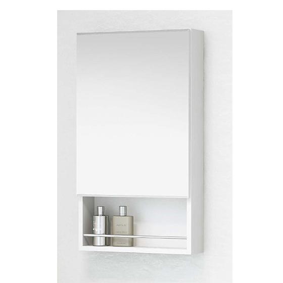鏡 洗面台鏡 化粧鏡(木製一面鏡)のみ ホワイト アサヒ衛陶 シャイニーアール MM450SW10