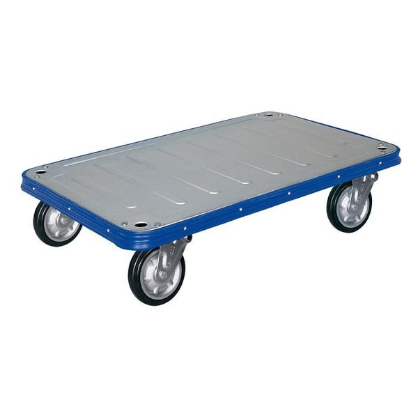 シシクアドクライス 運搬台車 スチール製ビックボディ ハンドルなし Vタイプ VR-UW キャスター:ウレタン車輪付
