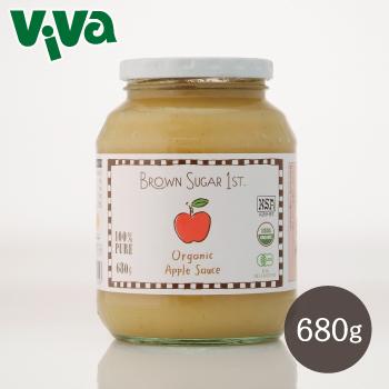 輸入 北カリフォルニアから 美味しいりんごをお届けします ブラウンシュガーファースト有機アップルソース 680g テレビで話題 瓶タイプ