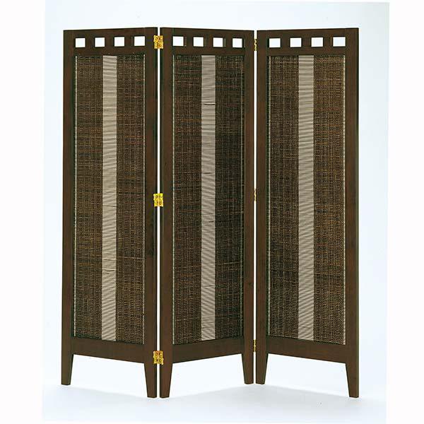 3連スクリーン エスニック色 幅41.6×3P 高さ130 天然木 竹材 衝立 パーテーション 間仕切り ナチュラル シンプル 和テイスト デザイン SC-313 インテリア 家具 雑貨 セール 送料無料 ヴィヴェンティエ