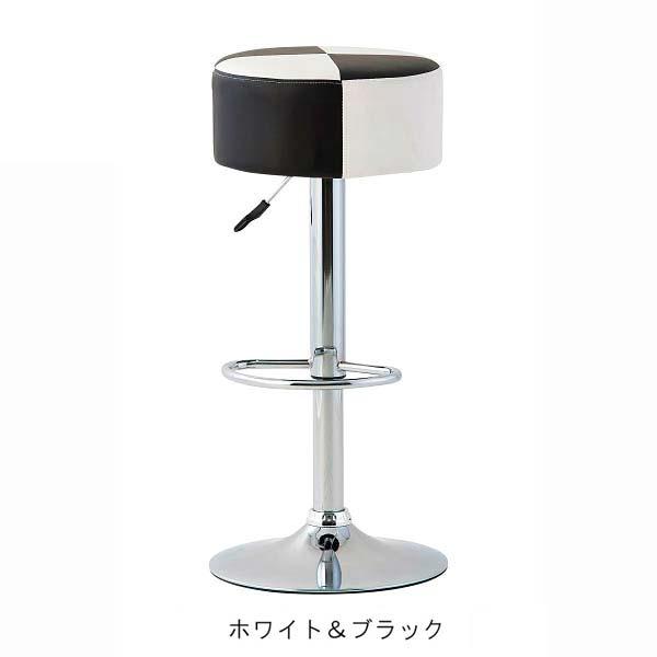 カウンターチェア 幅38.5cm 奥行38.5cm 高さ67~83.5cm ホワイト&ブラック 合成皮革 チェア 椅子 RD-C2330 インテリア 家具 雑貨 セール 送料無料 ヴィヴェンティエ