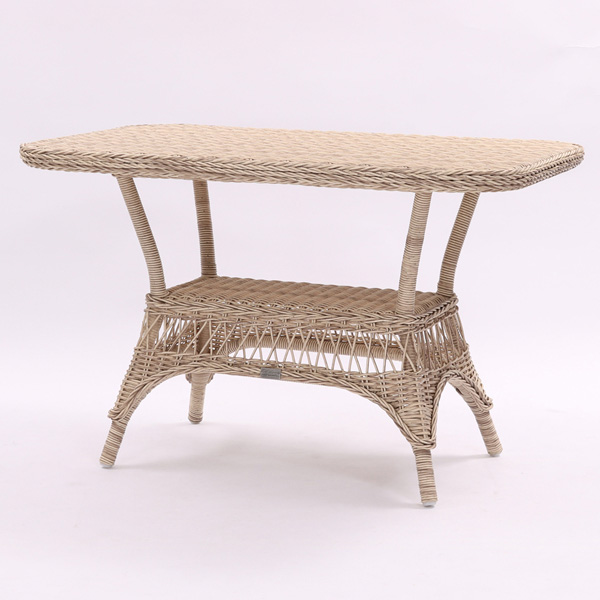 ダイニングテーブル 幅115cm 奥行70cm 高さ71cm T181PWW シャロット リゾートガーデン アルミフレーム 組立品 快適 涼しい アジアンテイスト キムラ サンフラワーラタン 送料無料 ヴィヴェンティエ