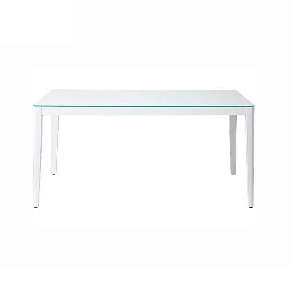 ダイニングテーブル 幅135 高さ72 ホワイト色 ガラス天板 脚部木製 長方形テーブル 飛散防止ガラス シンプル デザイン ナチュラル あずま工芸 ウィズ GDT7671 TOCOM 北欧テイスト インテリア 送料無料 ヴィヴェンティエ