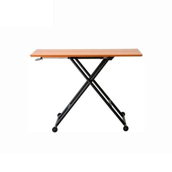 昇降テーブル ナチュラル色 幅100 高さ11-70 長方形テーブル 天然木 オーク ウォールナット 無段階高さ調節 スチール ダイニングテーブル ローテーブル シンプル デザイン ナチュラル あずま工芸 ロジカ RLT4516 北欧テイスト インテリア 送料無料 ヴィヴェンティエ