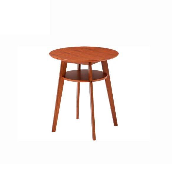 サイドテーブル 幅60 高さ69 円形テーブル 天然木 ウォールナット MDF カフェテーブル コーヒーテーブル シンプル デザイン ナチュラル あずま工芸 ディオーネ SST990 北欧テイスト インテリア 送料無料 ヴィヴェンティエ