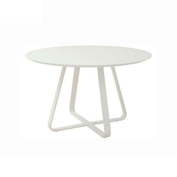 ダイニングテーブル ホワイト色 幅120 高さ73 円形テーブル 天板木製 スチール製脚 4本脚 アジャスタ付 シンプル デザイン ナチュラル あずま工芸 クロップ TDT1891 TOCOM 北欧テイスト インテリア 送料無料 ヴィヴェンティエ
