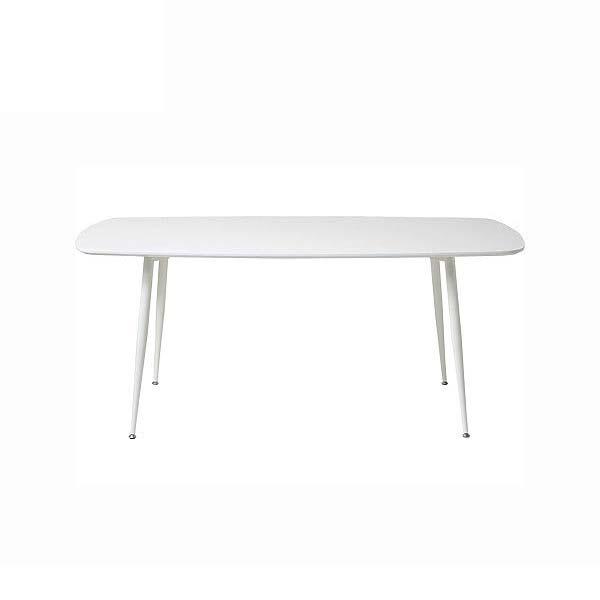 ダイニングテーブル 幅160 高さ72 ホワイト色 スチール 4本脚 長方形テーブル シンプル デザイン ナチュラル あずま工芸 グロス TDT5081 TOCOM 北欧テイスト インテリア 送料無料 ヴィヴェンティエ
