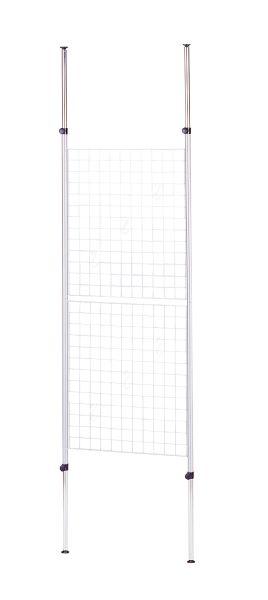 【ハンガー】 【送料無料】 メッシュハンガー 幅60cm 奥行5.5cm 高さ158(283)cm スチール(粉体塗装) BK-605(SV) UTILITY 弘益 インテリア 家具 雑貨 セール 送料無料 ヴィヴェンティエ