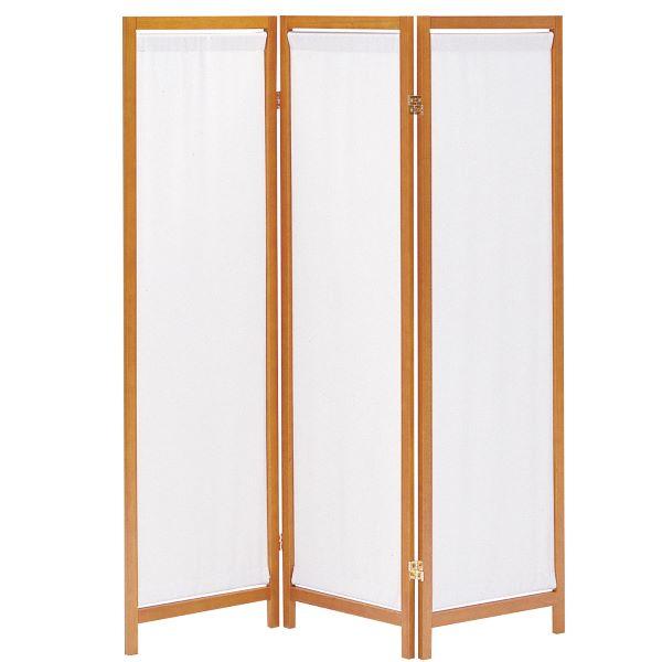 木製スクリーン(帆布)3連 幅44(x3)cm 奥行2cm 高さ150cm フレーム:天然木パイン材幕部:布(綿100%) 折りたたみ HT-3(BR) UTILITY 弘益 インテリア 家具 雑貨 セール 送料無料 ヴィヴェンティエ
