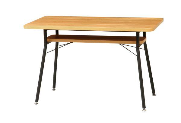 ケティル ダイニングテーブル 幅110cm 奥行60cm 高さ68cm メラミン化粧板 スチール(粉体塗装) 組立式 KTL-DT110 UTILITY 弘益 インテリア 家具 雑貨 セール 送料無料 ヴィヴェンティエ