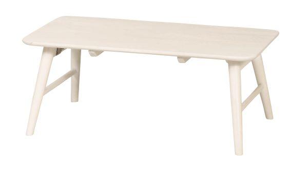 ミニヨン フォールディングテーブル 幅80cm 奥行48cm 高さ32cm 天然木ラバーウッド材 折りたたみ MIGNON-FT84 UTILITY 弘益 インテリア 家具 雑貨 セール 送料無料 ヴィヴェンティエ