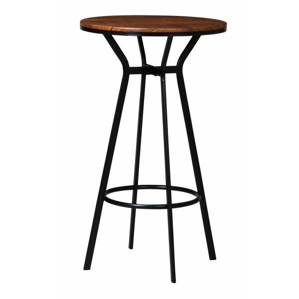 ハイテーブル 幅60cm 奥行60cm 高さ103cm 天板:MDF(塩ビシート真空成型)フレーム:スチール(粉体塗装) 組立式 VH-T60(BR) UTILITY 弘益 インテリア 家具 雑貨 セール 送料無料 ヴィヴェンティエ