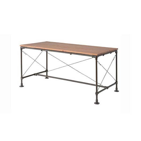 ダイニングテーブル 幅154cm 奥行84cm 高さ73cm 天然木パイン スチール カフェ風 ミッドセンチュリー デザイン WPS-341 東谷 家具 収納家具 インテリア 送料無料 ヴィヴェンティエ