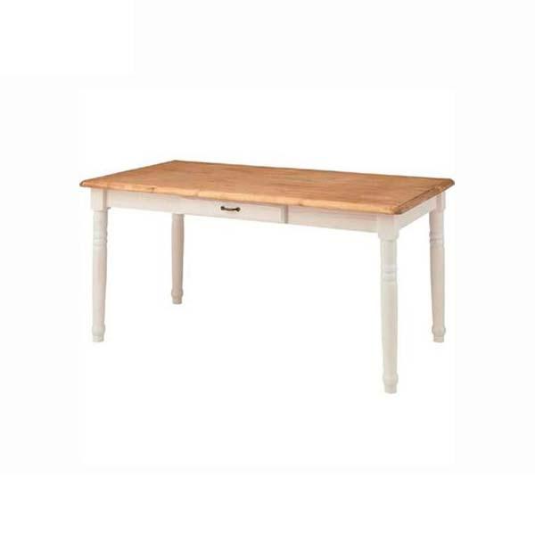 ダイニングテーブル 幅150cm 奥行80cm 高さ70cm ミディダイニングテーブル 天然木 パイン材 食卓テーブル ホワイト 白 フレンチ カントリー デザイン ミディ CFS-211 インテリア 家具 雑貨 セール 送料無料 ヴィヴェンティエ