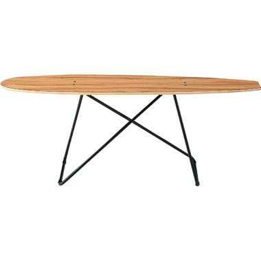センターテーブル 幅117cm 奥行31cm 高さ45cm コーヒーテーブル メラミン化粧合板 積層合板 アイアン 粉体塗装 リビングテーブル ローテーブル 完成品 カジュアル デザイン スケートボードファニチャーSF-200 インテリア 家具 雑貨 セール 送料無料 ヴィヴェンティエ