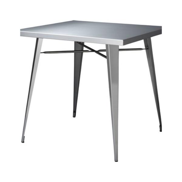 ダイニングテーブル テーブル ステンレス 幅81.5cm 奥81.5cm 高さ72cm アイアン モダン シンプル デザイン ステンレステーブル STN-337 インテリア 家具 雑貨 セール 組立式 送料無料 ヴィヴェンティエ