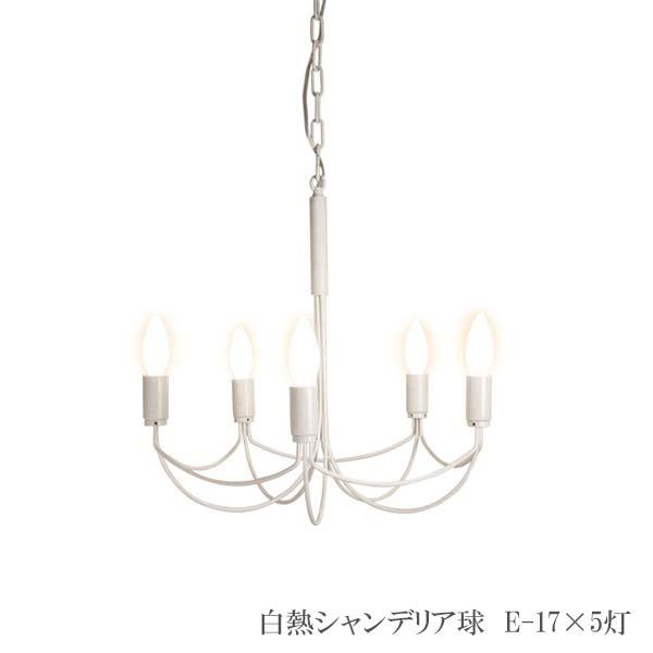 シャンデリア 5灯式ランプ 白熱シャンデリア球 直径44 高さ43cm スチール LP2001WH アンティーク調 デザイン Arco small アルコ スモール ホワイト DI CLASSE ディクラッセ 送料無料 ブラっち