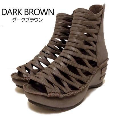 Hina Day Green ヒナデイグリーン メッシュ風厚底ウェッジサンダル 日本製 靴 レディース 婦人靴 ●送料無料