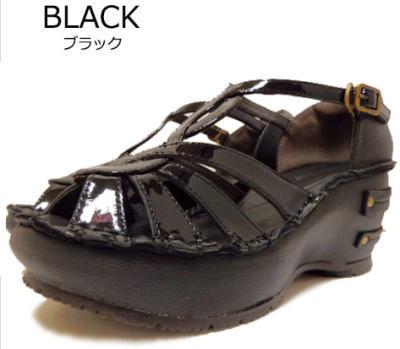 Hina Day Green ヒナデイグリーン アンクルストラップ厚底ウェッジサンダル 日本製 靴 レディース 婦人靴 ●送料無料