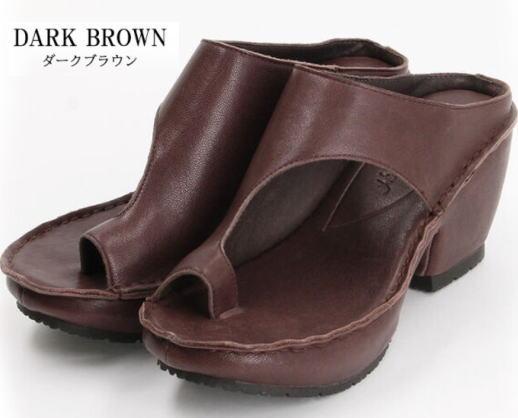 チャンキーヒールと斜めのアシンメトリーなデザイン Hina WEB限定 Day Green オトナ厚底レザートングサンダル 送料無料 靴 ブランド品 レディース 婦人靴
