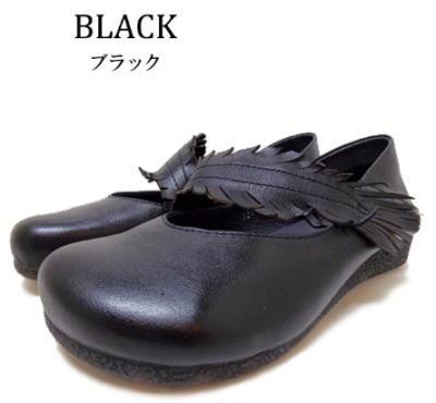 Hina Green Label リーフモチーフ バブーシュ   靴 レディース 婦人靴●送料無料