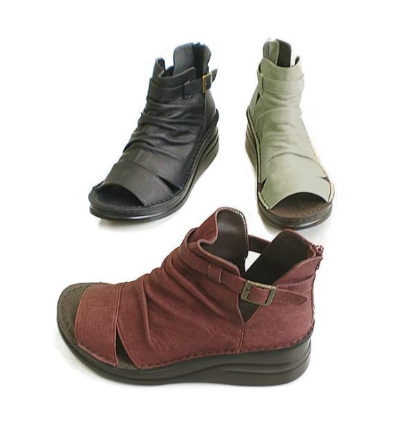 In Cholje(インコルジェ) 足に優しい靴 本革 ブーツサンダル 靴 レディース 婦人靴●送料無料