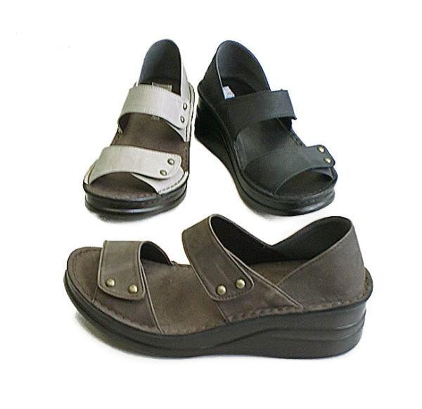 ベルクロ止めで自分の足に合わせて履けるコンフォートシューズ In Cholje インコルジェ 足に優しい靴 本革 セパレートサンダル 靴 婦人靴 レディース 送料無料 4123 メイルオーダー 日本製 おすすめ