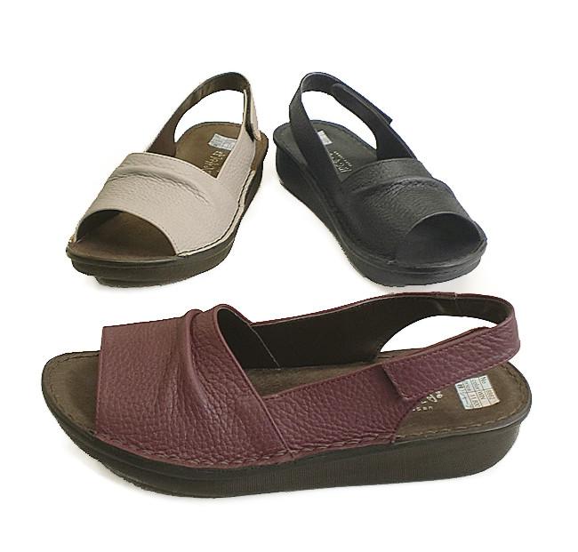 In Cholje (インコルジェ)足に優しい靴 本革 シャーリングサンダル(8862)日本製 靴 レディース 婦人靴●送料無料