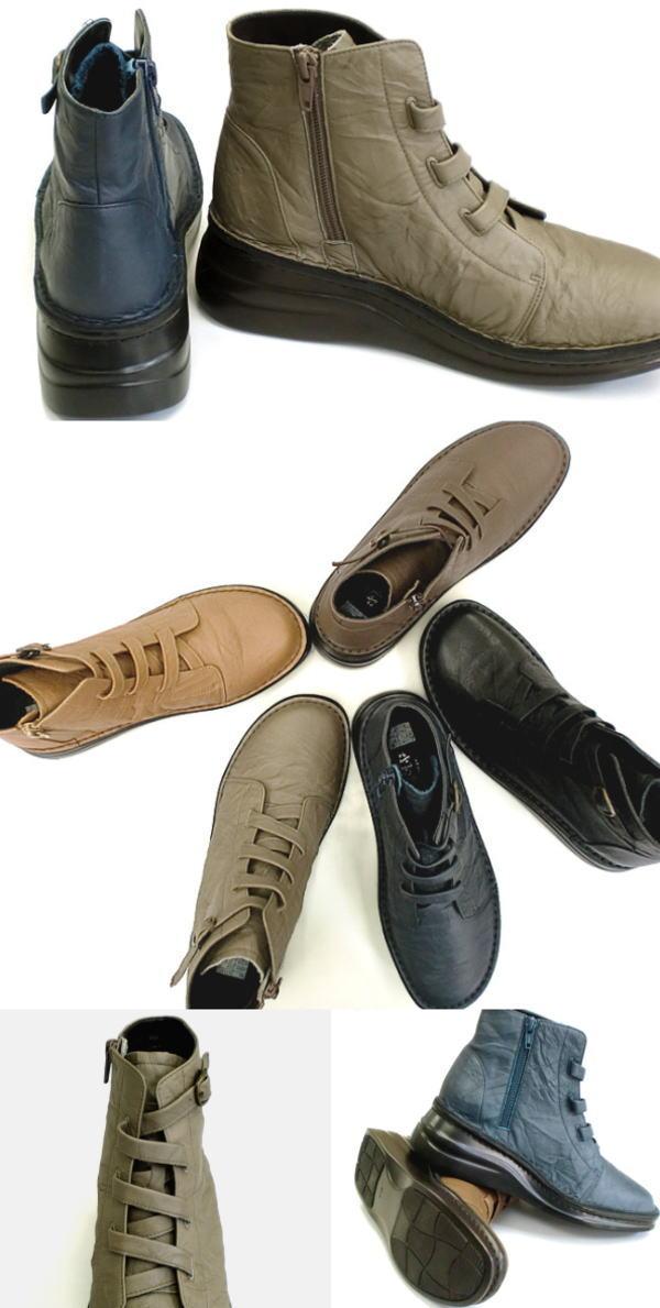 ・In Cholje インコルジェ足に優しい靴 本革 サイドジップショートブーツ 8718 日本製 靴 レディース 婦人靴 送料無料nwP80XOk