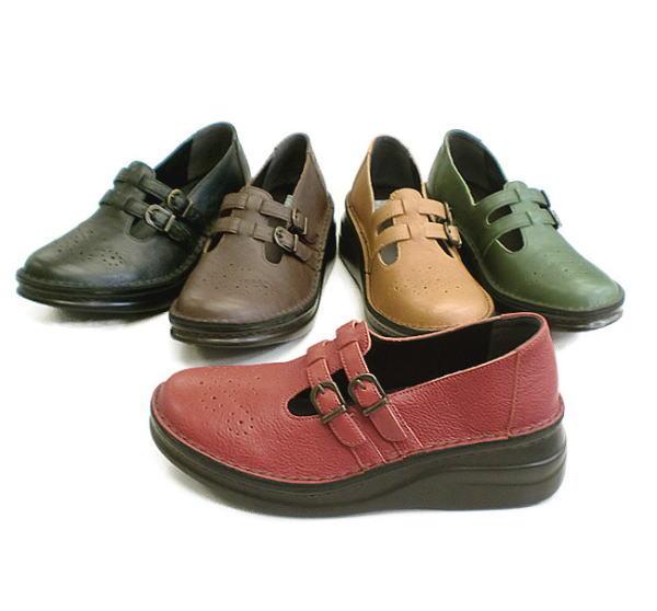 In Cholje(インコルジェ) 足に優しい靴 本革!ダブルベルトシューズ(8720)日本製 靴 レディース 婦人靴 ●送料無料