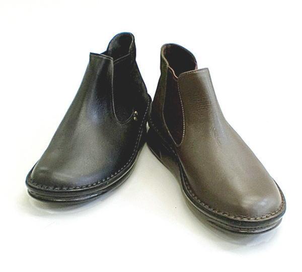 In Cholje(インコルジェ)足に優しい靴 本革サイドゴアブーティー(8582)2色展開 日本製  靴 レディース 婦人靴●送料無料