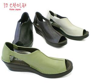 In Cholje(インコルジェ) 足に優しい靴 オプントゥー、オープンサイドシューズ(3248)日本製 靴 レディース 婦人靴●送料無料
