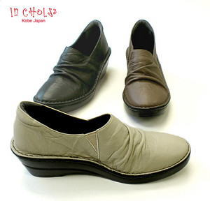 In Cholje(インコルジェ) 足に優しい靴 サイドゴア クシュクシュコンフォートパンプス(3249)日本製 靴 レディース 婦人靴●送料無料